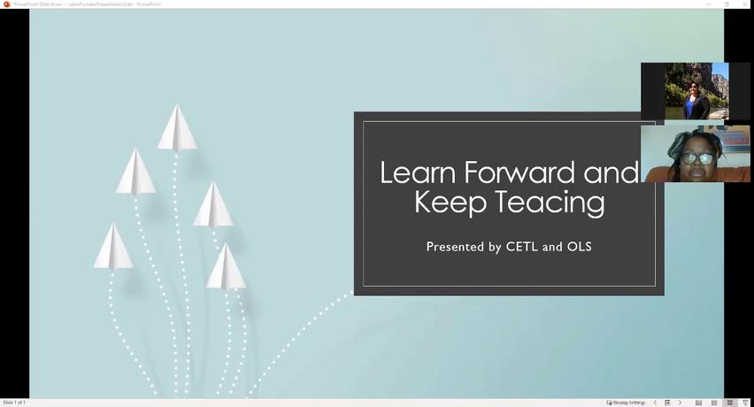 3/23/20 Learn Forward and Keep Teaching (March 23,...