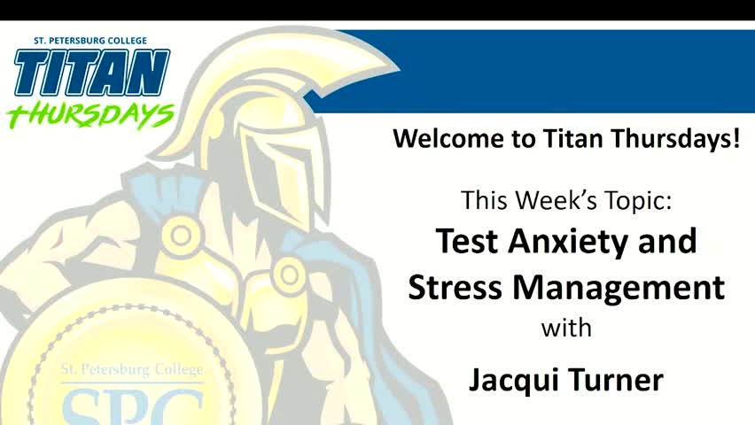 Titan Thursday: Test Anxiety and Stress Management...