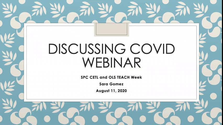 TEACH Week - Discussing COVID 19's Impact with You...