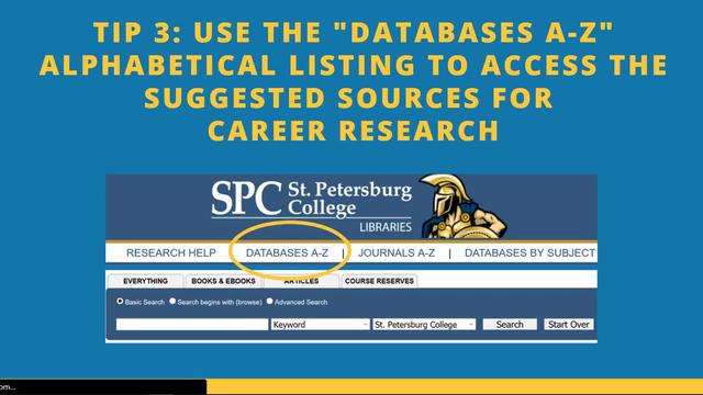 Career Research Tips