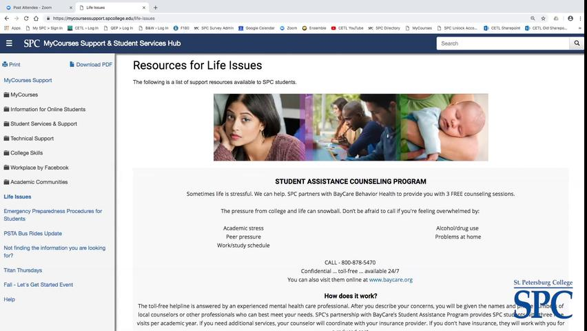 Supporting Students with Life Issues, 10-03-18