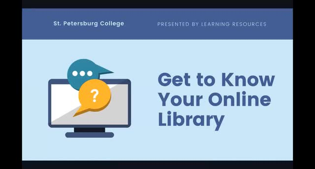 Get to Know Your Online Library