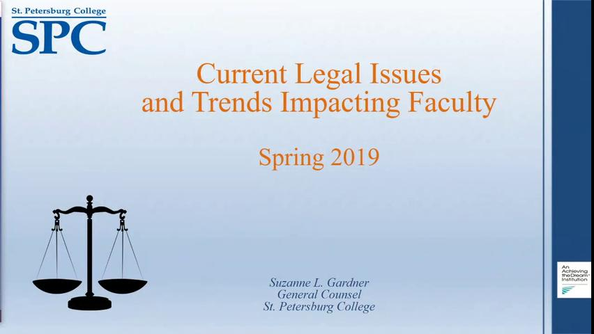 Legal Concerns in the Faculty Role - An Update wit...